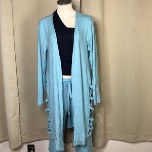 Fantastic LNA light blue crisscross cardigan Small